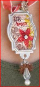 Be Happy Necklace as worn