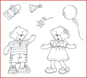 Beary Best Friends Stamp Set