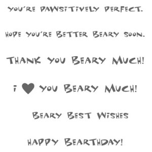 Beary Nice Wishes stamp set