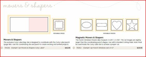 Movers and Shapers from catalog
