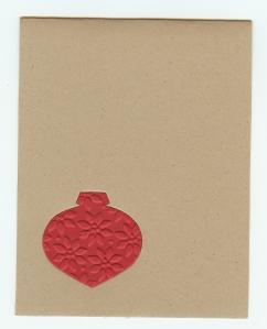 Ornament textured and plain card base