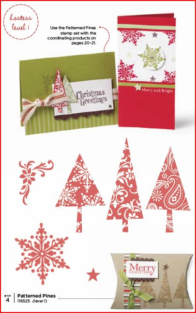Patterned Pines Holiday mini page