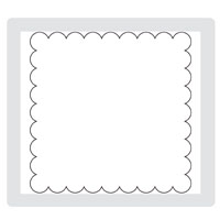 Scallop Square Clear Bigz Die