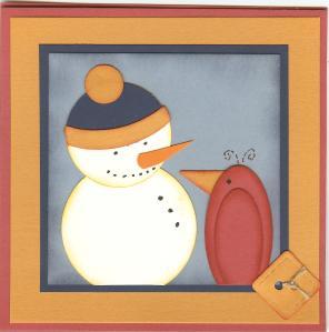 Snowman and redbird bag 002