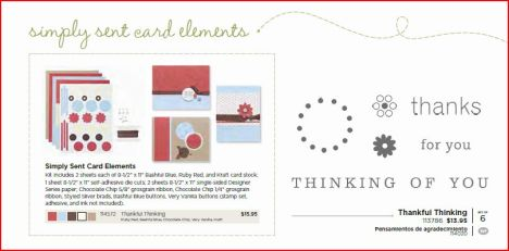 Thankful Thinking stamp and simply sent kit