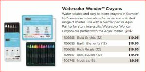 Watercolor Wonder Crayons