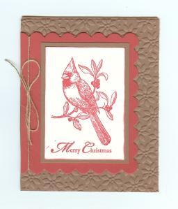 Christmas Cardinal Ruby Red 001