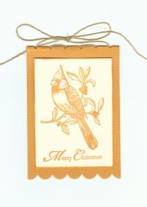 Christmas Cardinal Tag - lighter 001