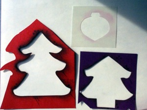 O Christmas Tree Die Stencils & Ornament Punch Stencil