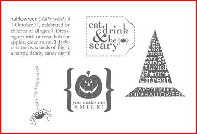 Eat, Drink & be Scary stamp set