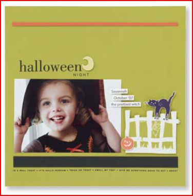Halloween Frights & Frightful Fence sample