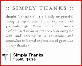 Simply Thanks - single stamp image