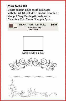 Take Your Place Mini Note Kit image file