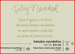 Christmas Greetings - Spanish