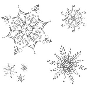 Serene Snowflakes stamp images