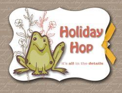 Stampin Pretty Pals Holiday Hop Badge