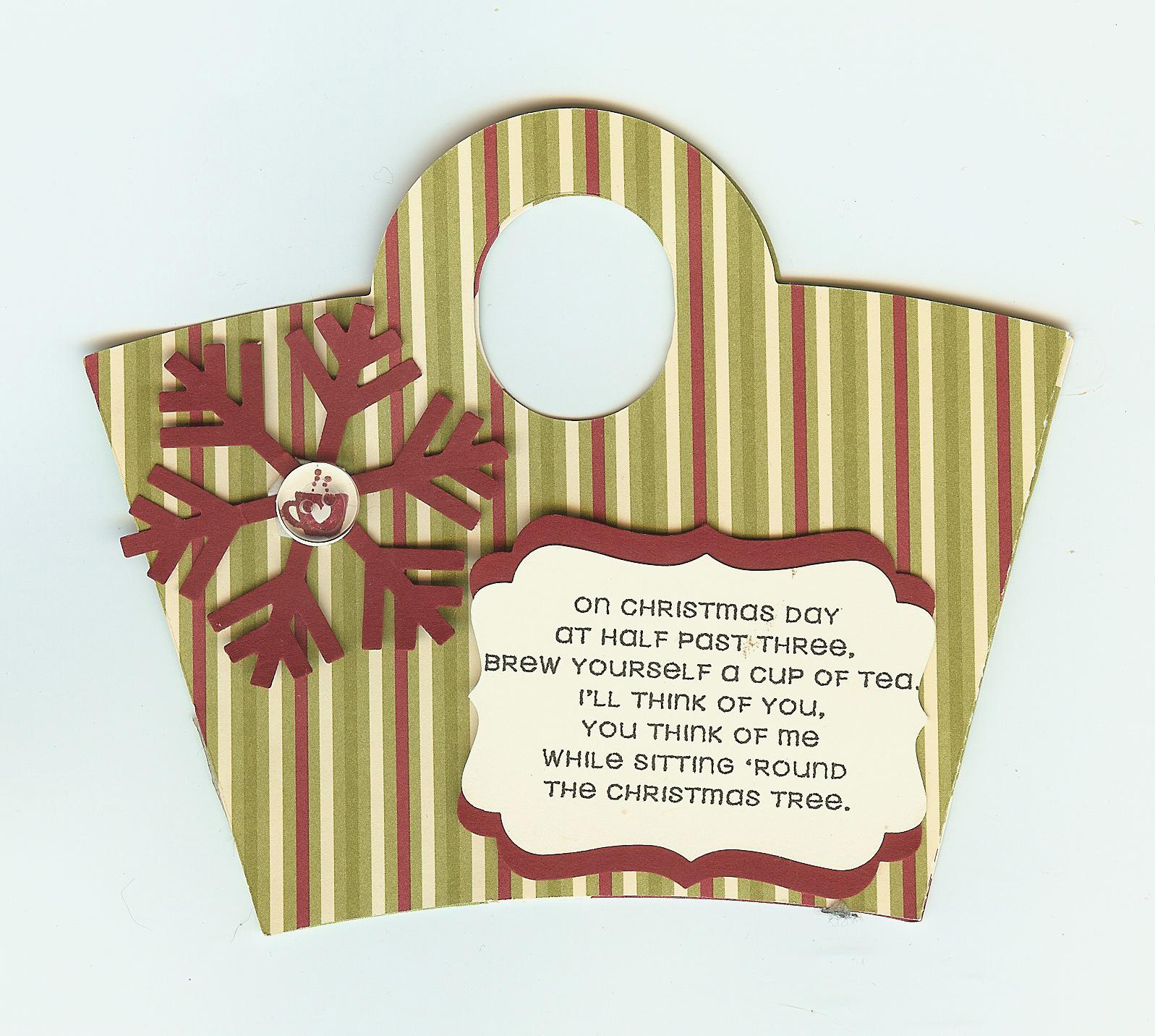 Stampin' Up! Gift Card and Tea Bag Holders….Tis the Season ...