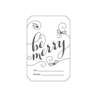 Be Merry - single stamp image