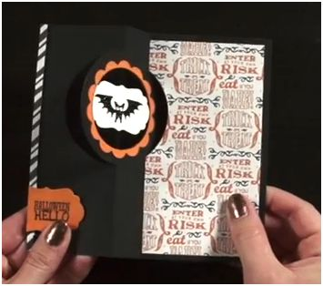 Halloween Hello Thinlit card