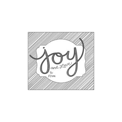 Joy and Love - single stamp image