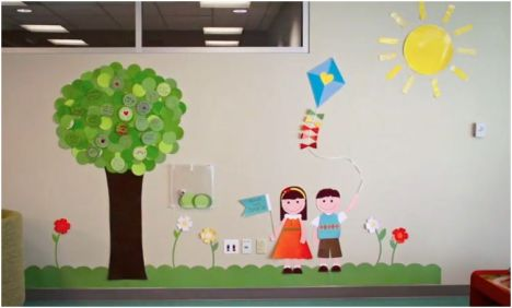 Stampin' Up Wishing Wall Tree at Children's Hospital in SLC