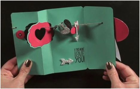 Thinlit I Love you Card interior