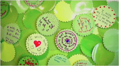 Wish medallions on the wishing tree