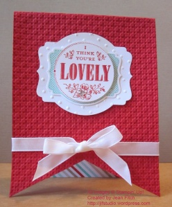 You're Lovely Banner Card - points down - watermarked