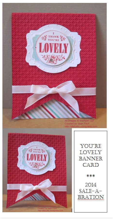 You're Lovely Banner Card - Wacky Watercooler SAB Blog Hop