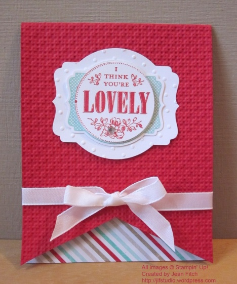 You're Lovely Banner Card - watermarked