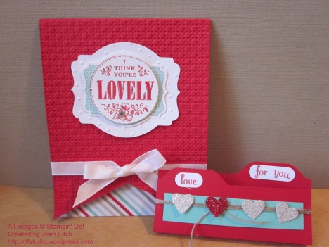 You're Lovely Card and Mini Chocolate Folder - watermarked