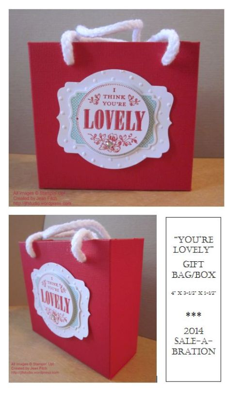 You're Lovely Gift Bag-Box - Wacky Watercooler SAB Blog Hop