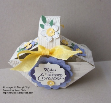 Blessed Easter Petal Basket - watermarked