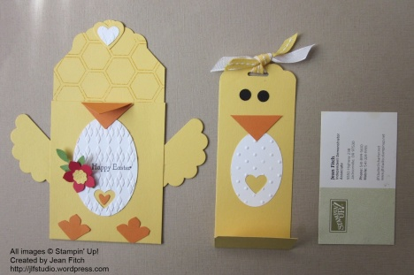 Chick Gift Card Holder in pieces - watermarked