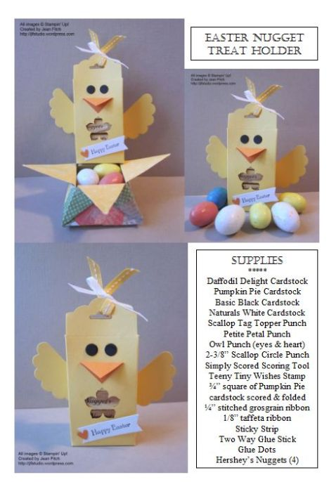 Easter Chick Nugget Scallop Tag Topper Treat Holder