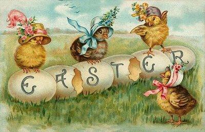Easter+chicks+spelling+Easter+vintage