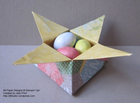 Epic Day This and That Designer Series Paper Origami Star Box