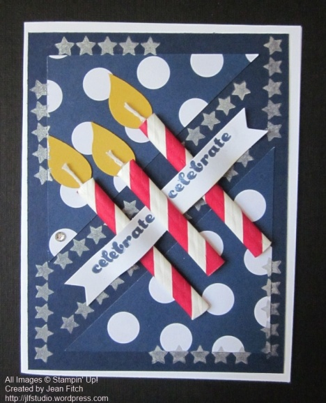 June 2014 Paper Pumpkin Candle Card - Jean Fitch and a Fourth of July Celebration!