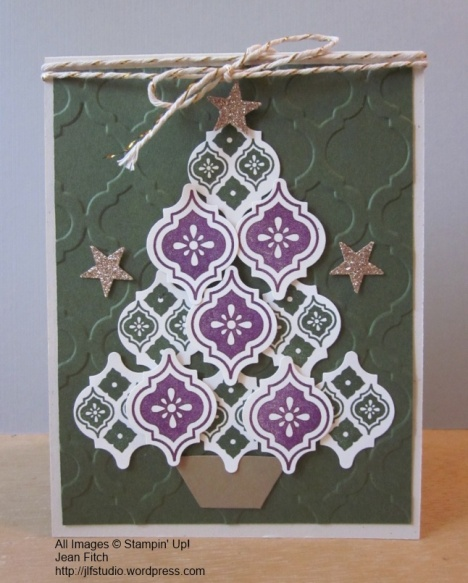 Mosaic Madness Ornament Tree - CASE by Jean Fitch for the SCCC #32 Christmas Challenge