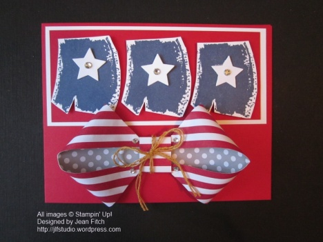 WCC03 Challenge - Old Glory - June 2014 Paper Pumpkin Kit & Work of Art stamp set.  Designed by Jean Fitch