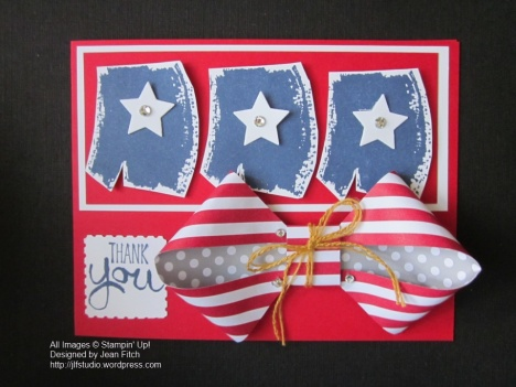 WCC03 Challenge - Old Glory Revised - June 2014 Paper Pumpkin Kit & Work of Art stamp set.  Designed by Jean Fitch