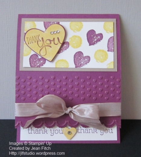 WCC05 Color Challenge   - created by  Jean Fitch using Work of Art and other Stampin' Up Supplies