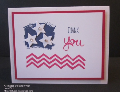 Work of Art Chevron Flag - Jean Fitch - Celebrating Independence Day.
