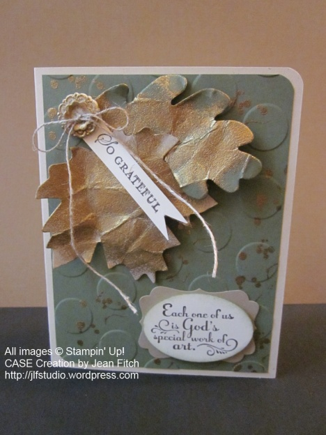 Golden Leaves Fall Card - watermarked