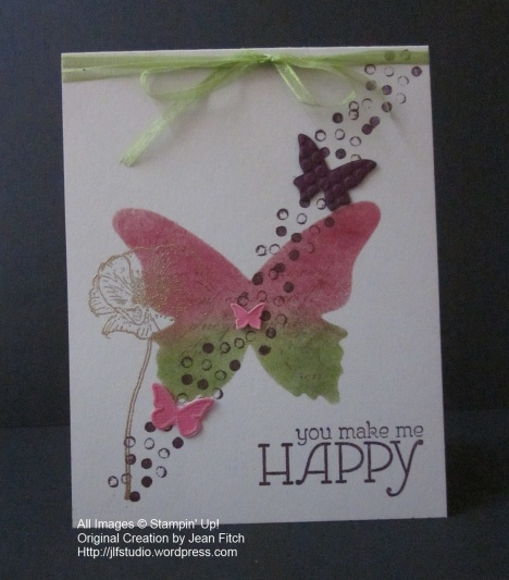 Beautiful butterflies die & En Francais & Happy Watercolor - Wacky Watercooler December Best of Hop