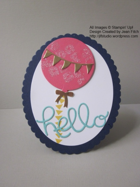 Watercooler Challenge WCC19 - Balloon Hello Card - Jean Fitch using Balloon Framelits and the Hello You thinlit die