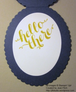 Watercooler Challenge WCC19 - Balloon Hello Card interior - Jean Fitch creation