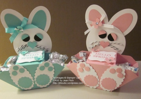 Cabana Boy and Pink Chick bunny boxes