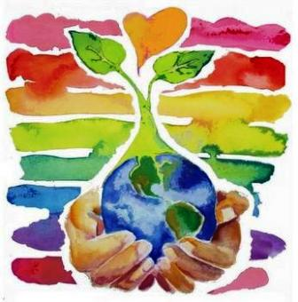 Earth Day watercolors