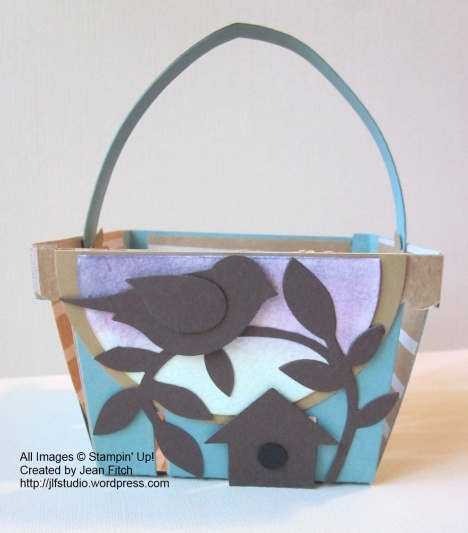 Father's Day Basket - WCC22 - Heidi's Challenge - Front view basket - created by Jean Fitch